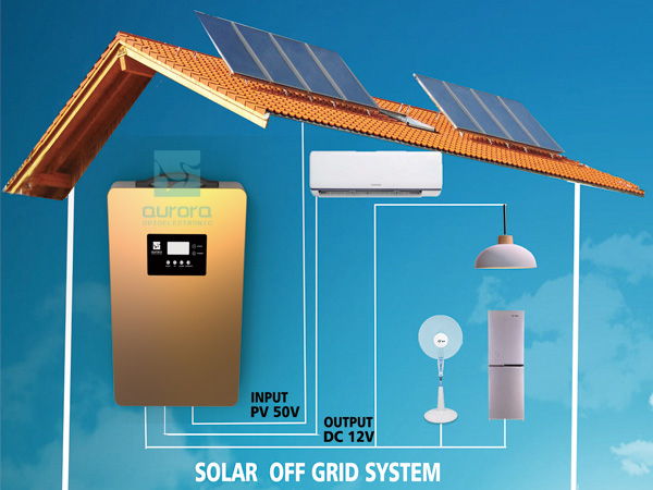 Portable off grid solar roof power home system off-grid solar system with led bulbs and fan