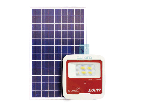 High power solar floodlight outdoor lighting IP65 with remote control