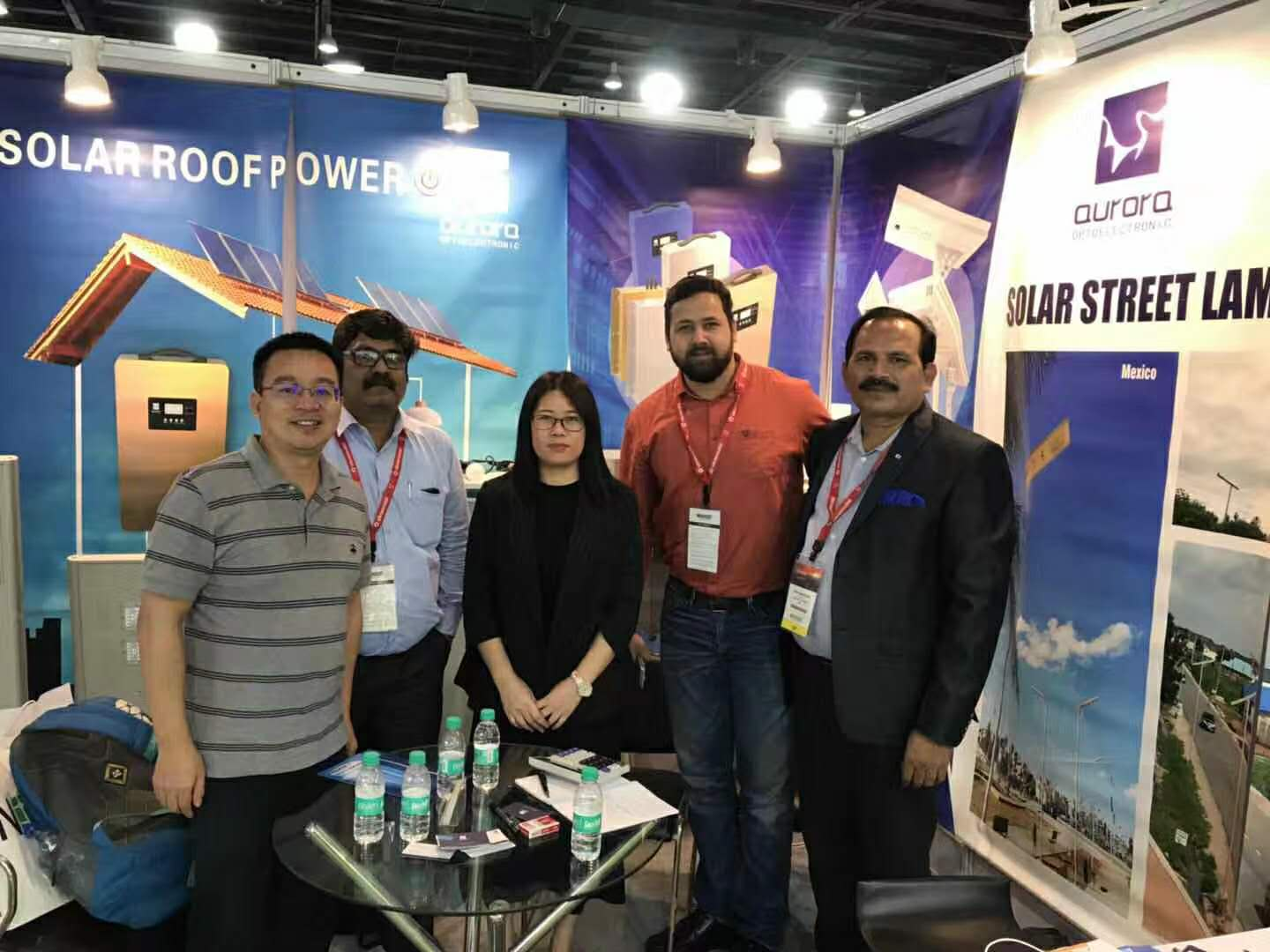 AURORA attend solar power show Renewable Energy India Expo 2018