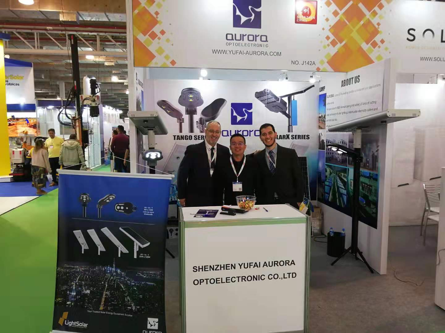 AURORA invite you visit us in Intersolar south America exhibition 2019 for all kinds of solar street lights