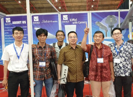 AURORA welcome you visit us in Indonesia Green tech/ Solartech 2019 solar power system